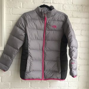 The North Face 500 Gray puffer Jacket Girl XL